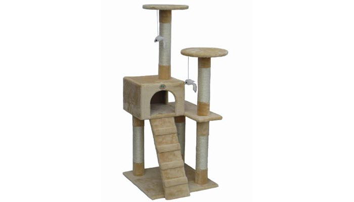 This Really Cute 52u201d High Go Pet Club Cat Tree Furniture Is Ideal Not Just  For Scratching For Your Kittyu0027s Play Time. They Can Scratch Away On The  Posts, ...