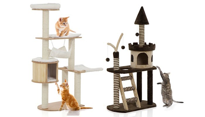 others are built with platforms or steps so they can jump around itu0027s also cute when the posts include a hanging toy so your curious cat can play with it - Cat Scratching Post