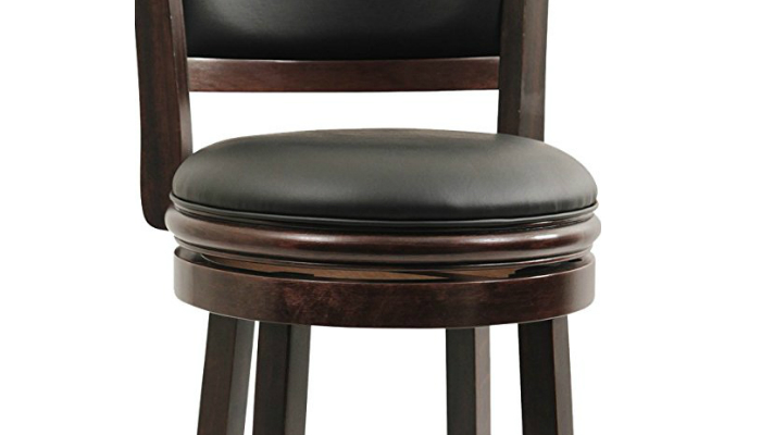 leather bar stools are great for comfort bar stools should also have horizontal bars attached to the legs so your feet will have something to rest on