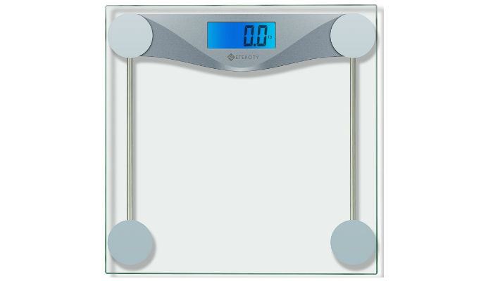 Etekcity Digital Bathroom Scale Is Tough Against Exterior Damage Because Of Its High Quality Solid Gl Material You Do Not Need To Manually Turn It On