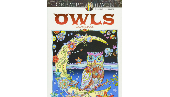 our pick marjorie sarnats creative haven owls adult coloring book - Best Adult Coloring Books