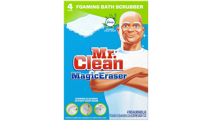 Mr. Clean Magic Eraser Bath Scrubber Can Remove Soap Scum Even In The  Toughest And Hardest To Reach Areas Of Your Bathroom, Including Your Bathtub .