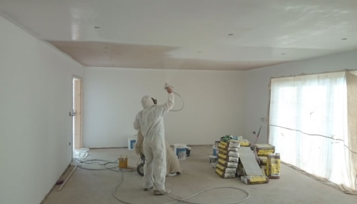 How To Spray Paint Interior Walls And Ceilings Smart Home Keeping